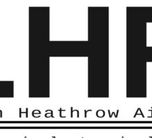 LHR London Heathrow Airport Call Letters Sticker