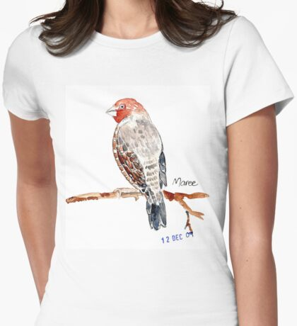 Red-headed Finch (Rooikop Vink) Womens Fitted T-Shirt