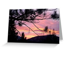 Sunrise Emerging Over the Sierra Nevada Mountains Greeting Card