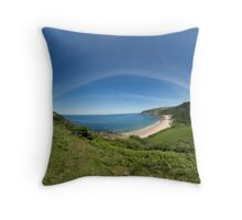 Kinnagoe Bay Panorama Throw Pillow