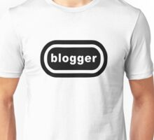 Blogger (black print) Unisex T-Shirt