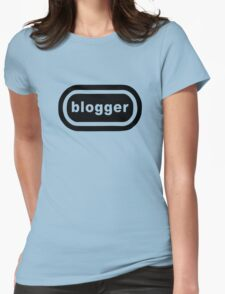 Blogger (black print) Womens Fitted T-Shirt