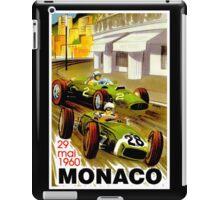 """MONACO"" Vintage Grand Prix Auto Racing Print iPad Case/Skin"