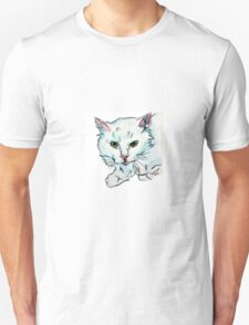 Little White Cat Watercolor  Unisex T-Shirt
