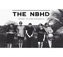 "The Neighbourhood NBHD ""MADE IN CALIFOURNIA"" WIDE FIT For Tee's and Posters Photographic Print"