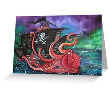 A Pirates Tale - Attack Of The Mutant Octopus Greeting Card