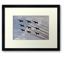 Red Arrows Aviation display team Framed Print