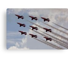 Red Arrows Aviation display team Canvas Print