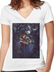 Strayed Women's Fitted V-Neck T-Shirt
