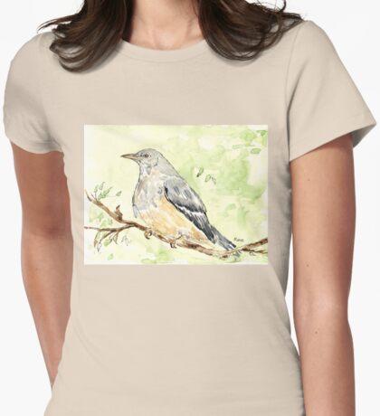 Karoo Thrush (Turdus smithi) Womens Fitted T-Shirt