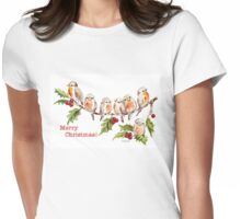 Merry Christmas! 7 Little birds Womens Fitted T-Shirt