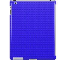 Building Block Brick Texture - Blue iPad Case/Skin