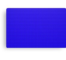 Building Block Brick Texture - Blue Canvas Print