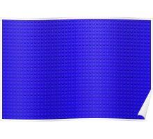 Building Block Brick Texture - Blue Poster