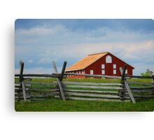 Red Barn, Gettysburg Battlefield, PA, Fine Art Print Canvas Print