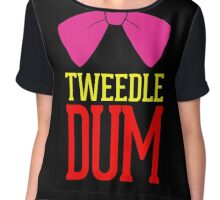 Tweedle Dee Tweedle Dum Costume Chiffon Top