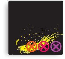 3 Strikes Grunge Canvas Print