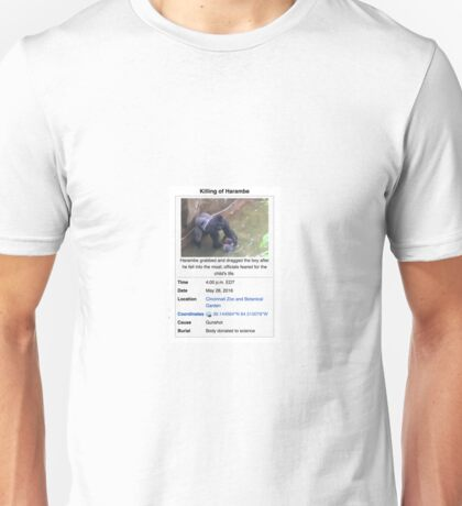 Death of Harambe Unisex T-Shirt