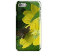 Little Moth and Narrow Leaf Water Willow iPhone Case/Skin
