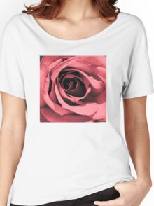 SHAPE OF MY HEART PINK ROSE Women's Relaxed Fit T-Shirt
