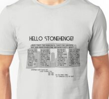 Hello Stonehenge! - Doctor Who Unisex T-Shirt