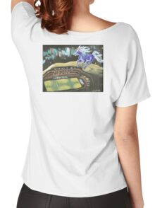 BLUE PONY CORRAL, HAVRE, MONTANA Women's Relaxed Fit T-Shirt