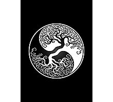 White and Black Tree of Life Yin Yang Photographic Print