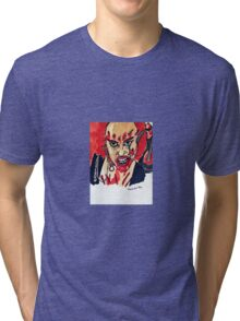 Julie from Classic Horror Movie Return of the Living Dead 3  Tri-blend T-Shirt