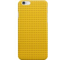 Building Block Brick Texture - Yellow iPhone Case/Skin