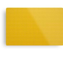 Building Block Brick Texture - Yellow Metal Print