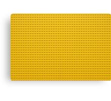 Building Block Brick Texture - Yellow Canvas Print