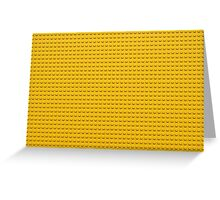 Building Block Brick Texture - Yellow Greeting Card
