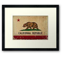 California State Flag VINTAGE Framed Print