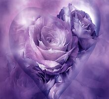Heart Of A Rose - Lavender Mauve by Carol  Cavalaris