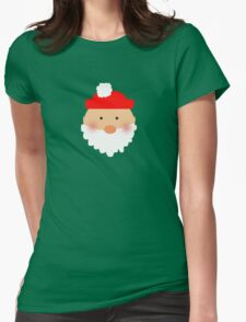 Santa, Merry Christmas! Womens Fitted T-Shirt