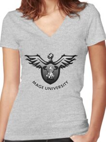 Mage University Women's Fitted V-Neck T-Shirt