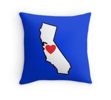 I Love California Throw Pillow
