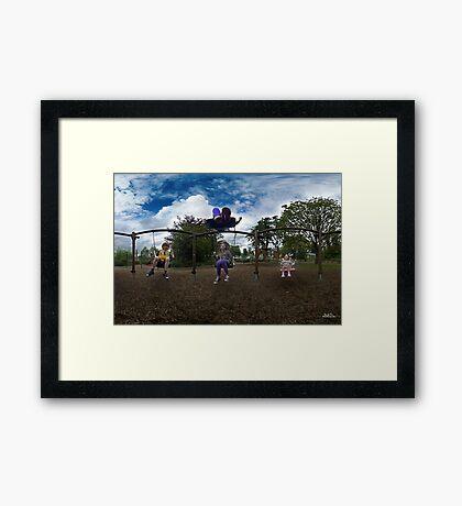 3  Kids on a Swing Framed Print