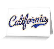 California Script Blue VINTAGE Greeting Card