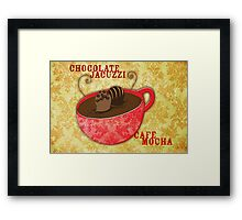What my Coffee says to me -  Chocolate Jacuzzi Framed Print