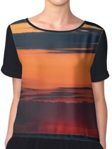 Dusk In Stripes | Stony Brook, New York Chiffon Top