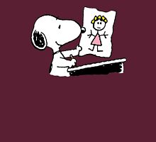 snoopy drawing love Unisex T-Shirt