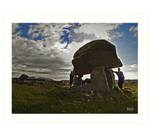 Kilclooney Dolmen, County Donegal Art Print
