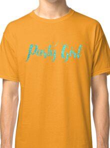 Tiffany Aqua Blue Glitter Text Party Girl On Black Classic T-Shirt