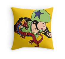 A Girl Worth Fighting! Throw Pillow