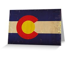 Colorado State Flag VINTAGE Greeting Card