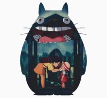 totoro big smile raining Kids Tee