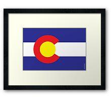 Colorado State Flag  Framed Print