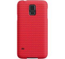 Building Block Brick Texture - Red Samsung Galaxy Case/Skin
