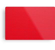 Building Block Brick Texture - Red Metal Print